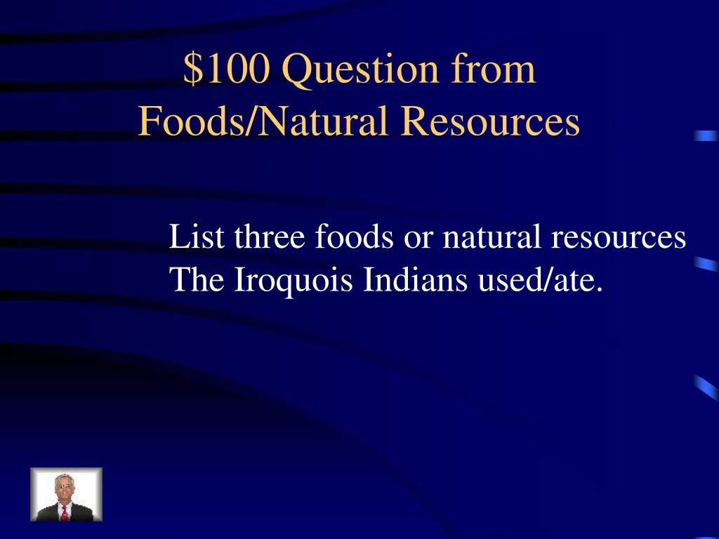 $100 Question from Foods/Natural Resources