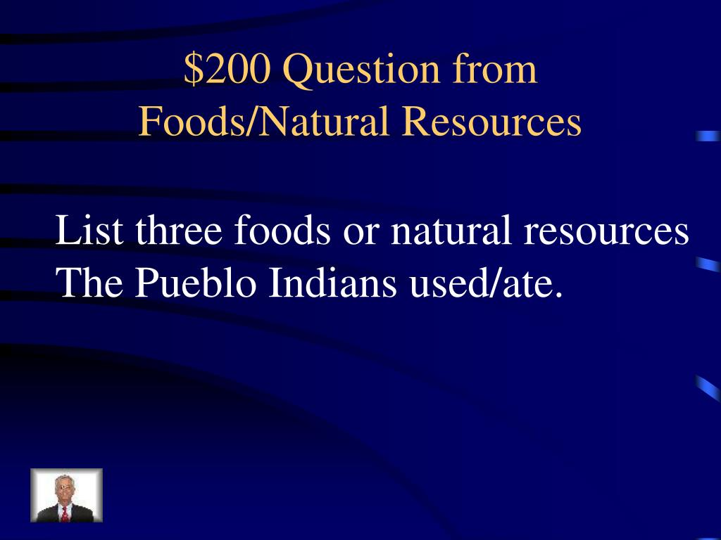 $200 Question from Foods/Natural Resources