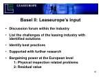 basel ii leaseurope s input
