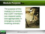 module purpose