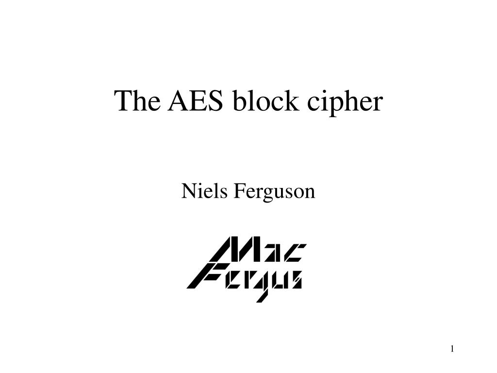 the aes block cipher l.