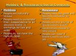 hobbes rousseau s social contracts