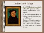 luther s 95 issues