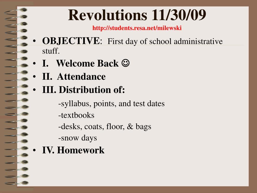 revolutions 11 30 09 http students resa net milewski l.