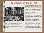 the council of trent 1545