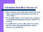 calculation from river terraces 1