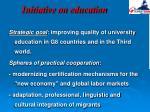 initiative on education