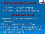 russian presidency outreach