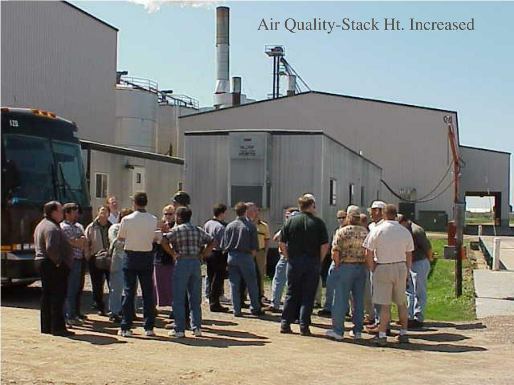 Air Quality-Stack Ht. Increased