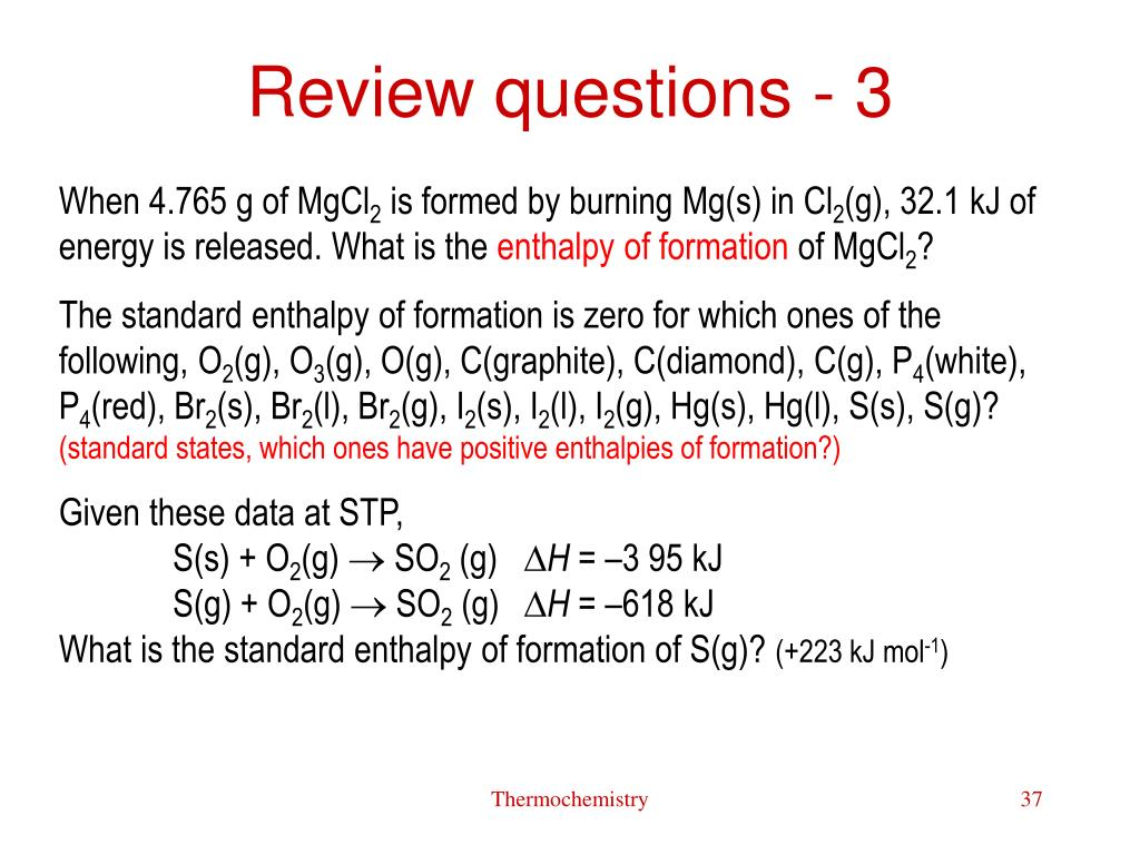 Review questions - 3