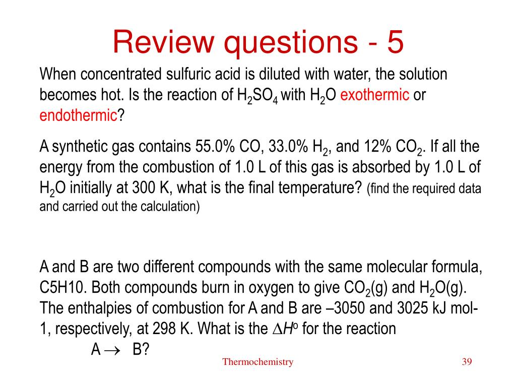 Review questions - 5