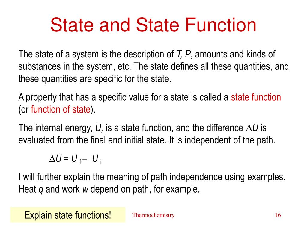 State and State Function