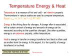 temperature energy heat