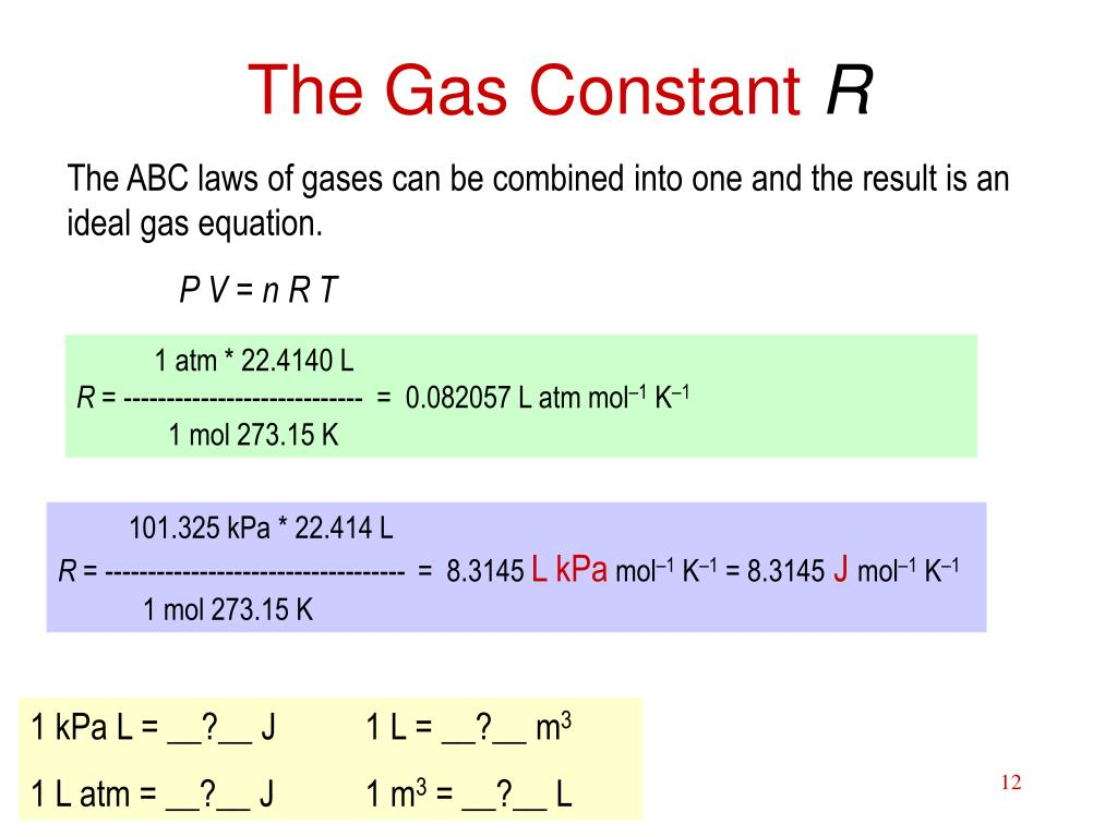 The Gas Constant