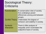 sociological theory criticisms