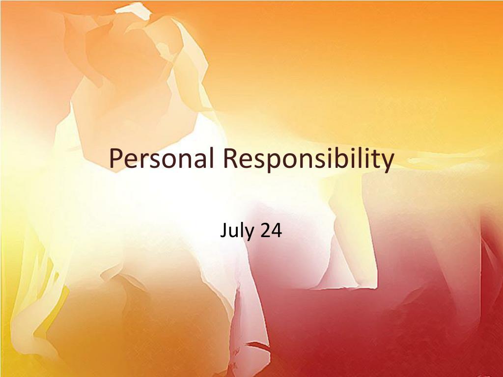 personal responsibility l.
