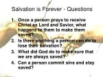 salvation is forever questions