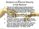scripture on eternal security of the believer