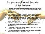 scripture on eternal security of the believer12