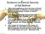 scripture on eternal security of the believer13
