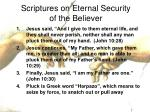 scriptures on eternal security of the believer