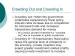 crowding out and crowding in