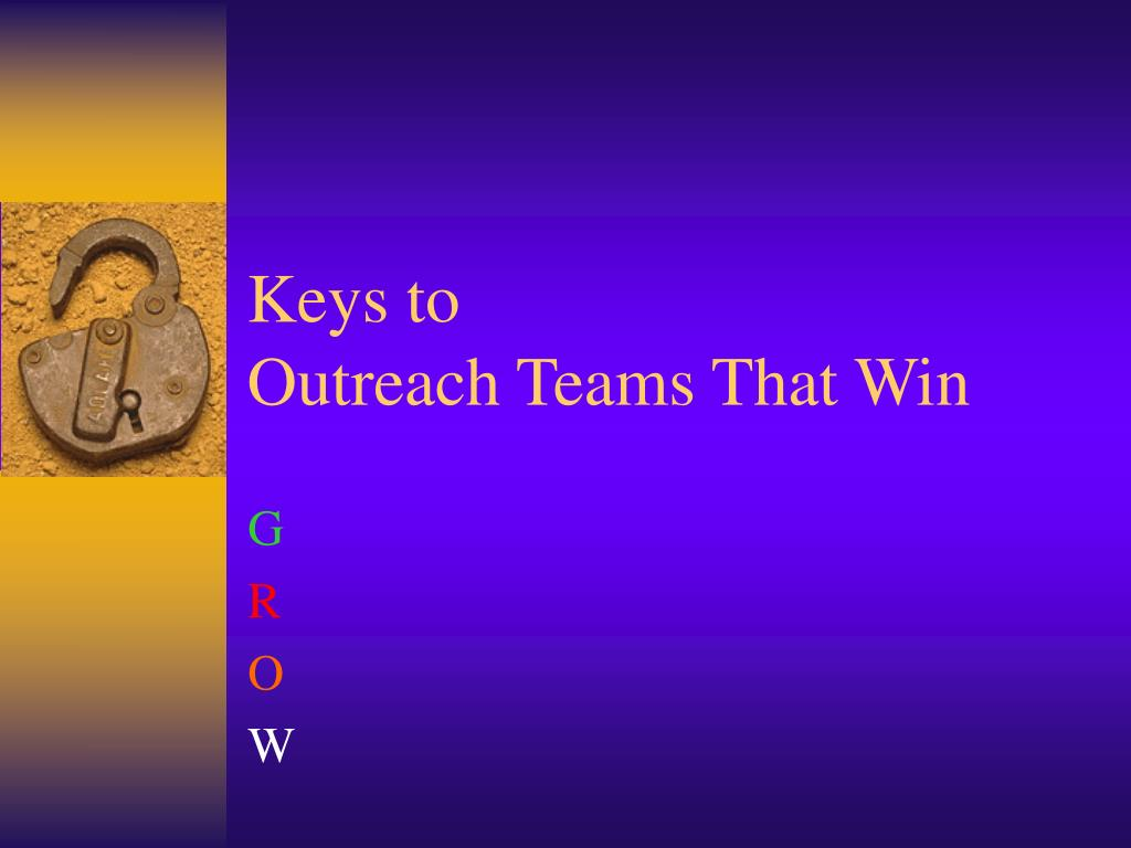 keys to outreach teams that win l.
