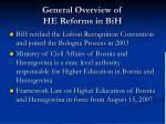 general overview of he reforms in bih