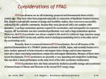 considerations of ffag