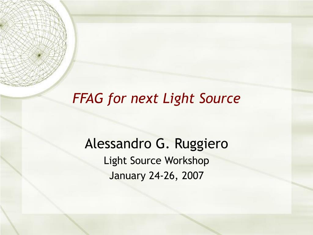 ffag for next light source l.