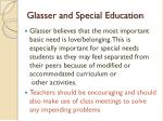 glasser and special education