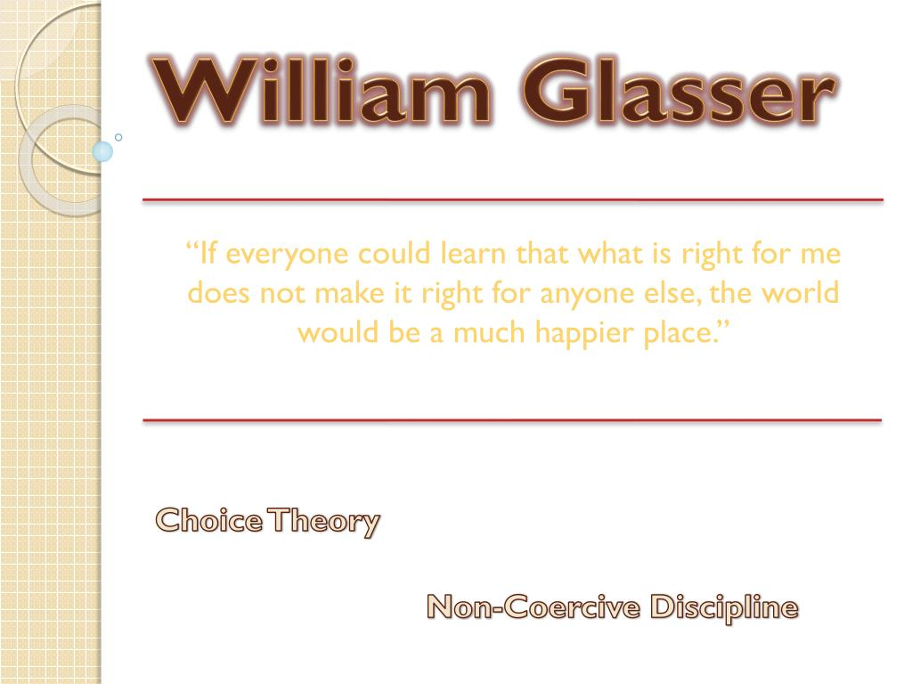 william glasser l.