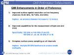 gmi performance enhancements