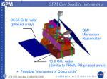 gpm core satellite instruments
