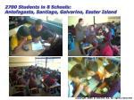 2700 students in 8 schools antofagasta santiago galvarino easter island