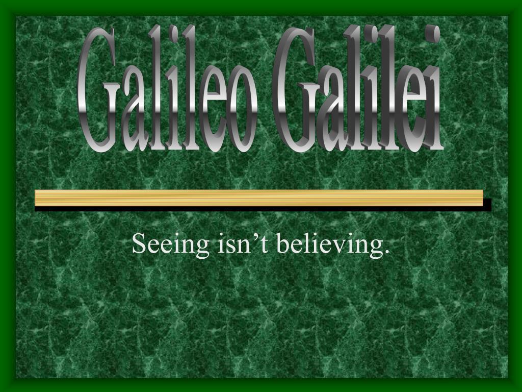 seeing isn t believing l.