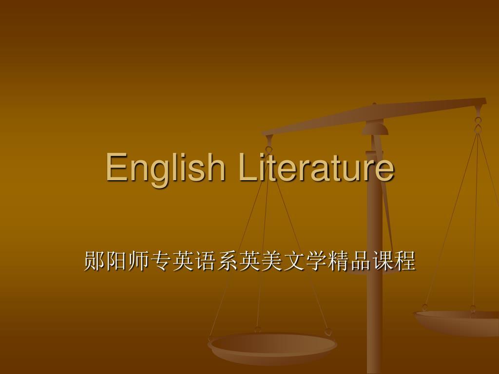 english literature l.