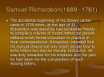 samuel richardson 1689 1761