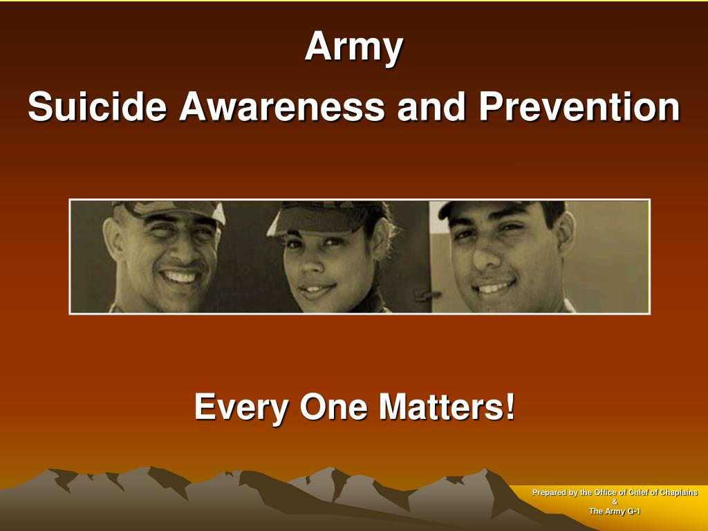 army suicide awareness and prevention l.