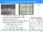 a novel photo sensor of silicon apds
