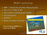 bnm1 workshop