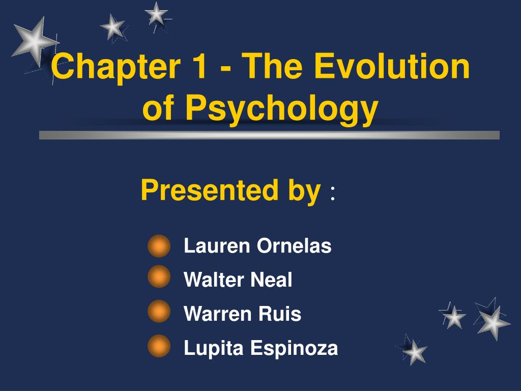 chapter 1 the evolution of psychology l.