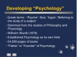 developing psychology