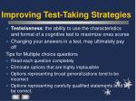 improving test taking strategies