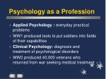 psychology as a profession