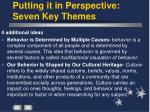putting it in perspective seven key themes20
