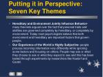 putting it in perspective seven key themes21