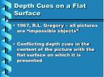 depth cues on a flat surface