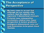the acceptance of perspective