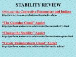 stability review